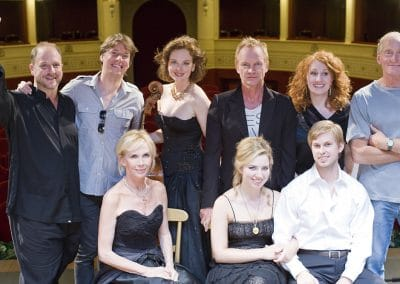 Barrett Wissman, Joshua Bell, Nina Kotova with Sting, Trudie Styler