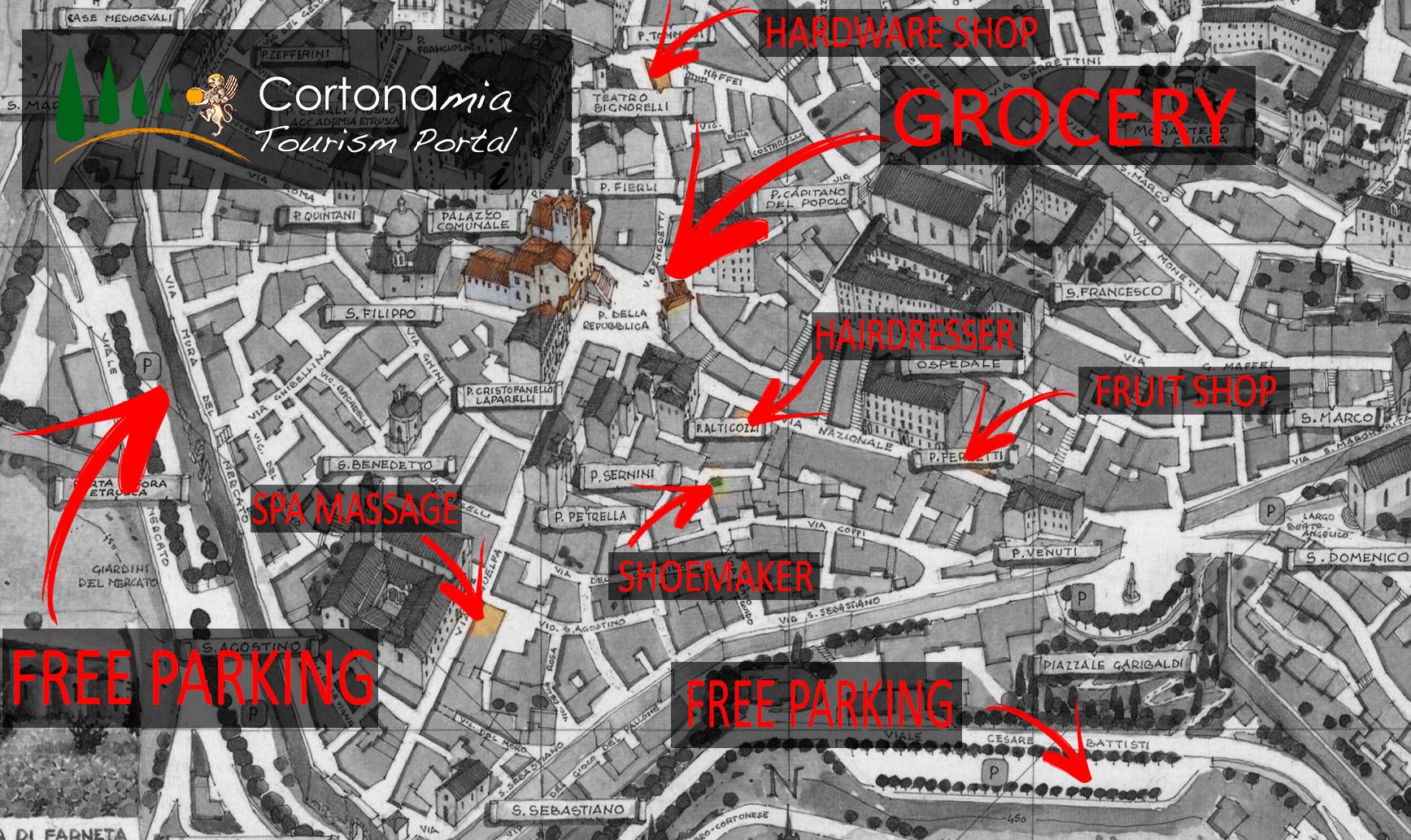 Cortona Map - Cortona Mia