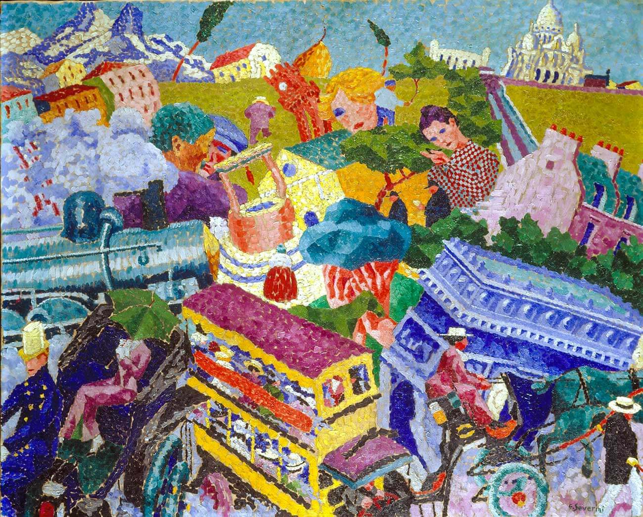 gino severini from cortona and the futurism