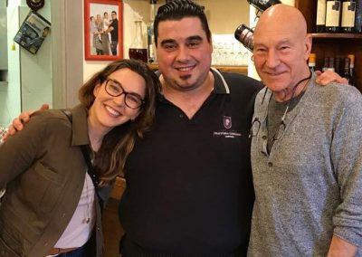 Patrick Stewart visiting Cortona with Air Bnb